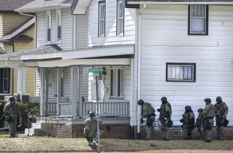 Three adults fled from the scene of the hostage incident when police arrived Wednesday, March 20, leaving a 3-year-old boy behind.