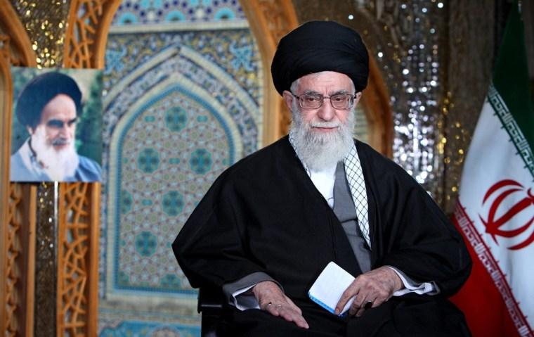 Iranian Supreme leader Ayatollah Ali Khamenei, pictured Wednesday.