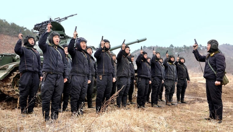 The North Korean army's command accused the United States of preparing for a nuclear war in its ongoing exercises with the South Korean military.