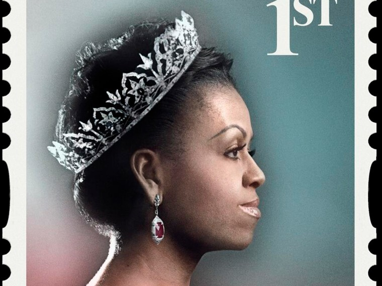 Image: Michelle Obama as queen in a British ad