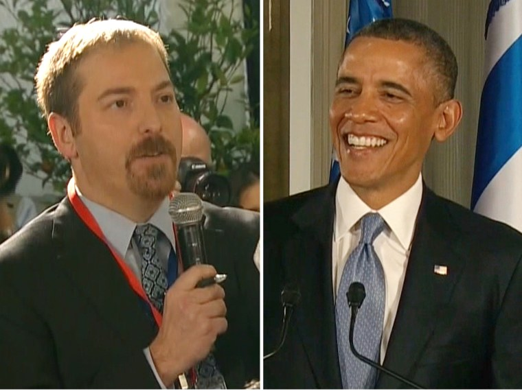 President Obama and Israeli PM Benjamin Netanyahu teased Chuck Todd for asking too many questions on Wednesday.