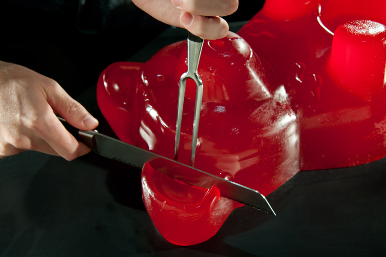 Will the giant gummy make you the life of the party? We don't know. We just wanted an excuse to run these photos.