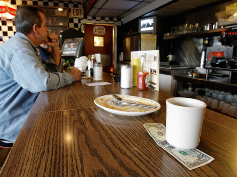 Customers at Linda's Place Restaurant in St. Clair Shores, Mich. tip. Do you?