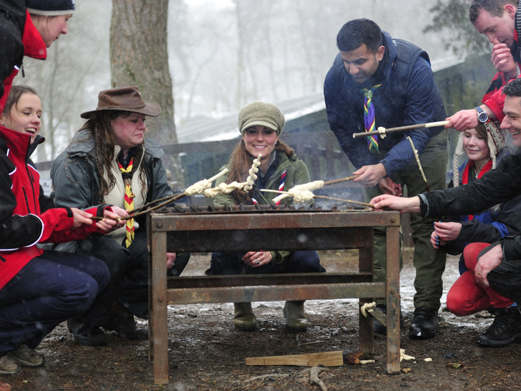 Duchess Kate showed off her outdoorsy skills with a trip to Scout camp.