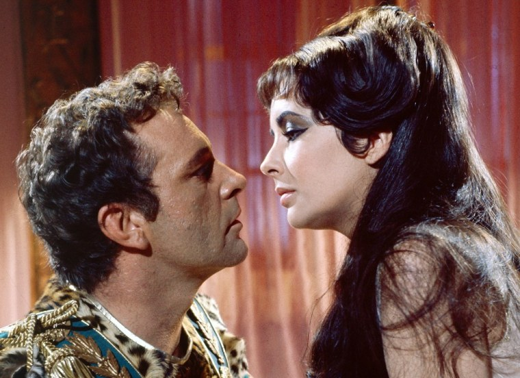 """Elizabeth Taylor, in the title role, and Richard Burton as Marc Antony in """"Cleopatra."""""""