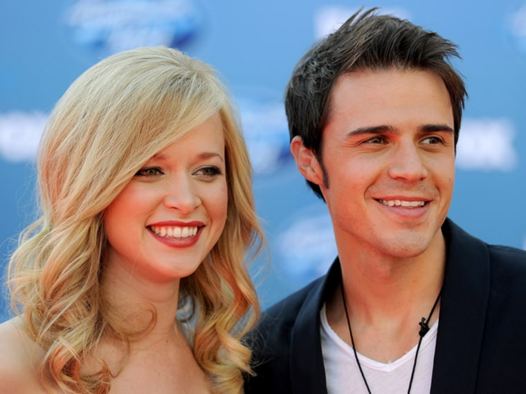 Katy and Kris Allen in 2011.