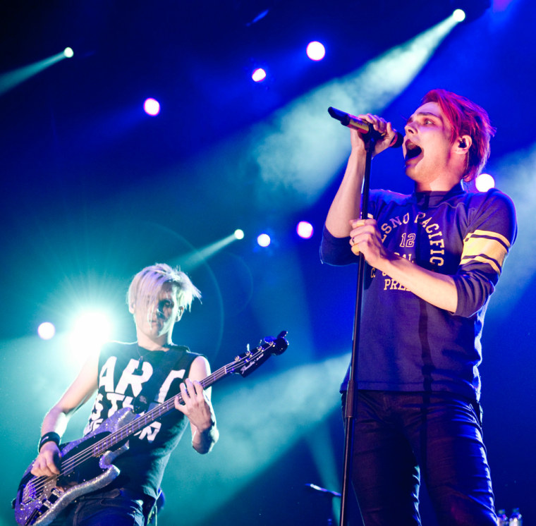 Mikey Way and Gerard Way of My Chemical Romance in 2011.