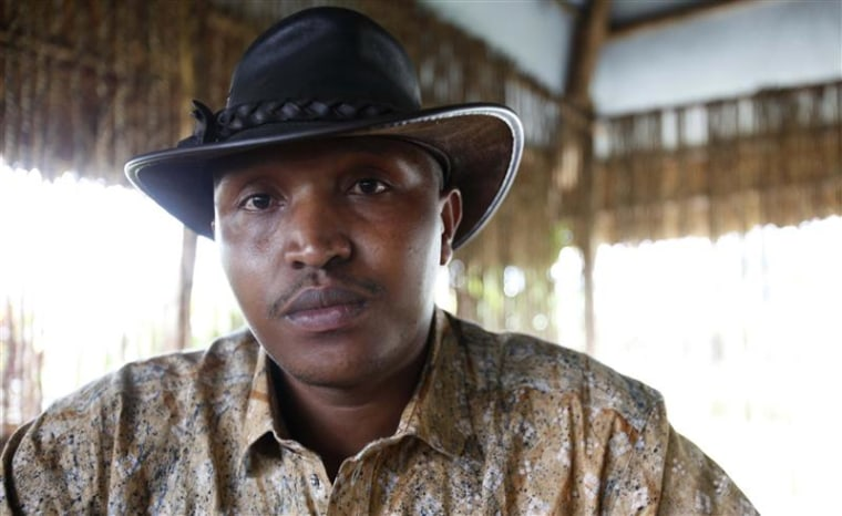 Indicted war criminal Bosco Ntaganda poses for a photograph during an interview with Reuters in Goma, Democratic Republic of Congo, Oct. 5, 2010.