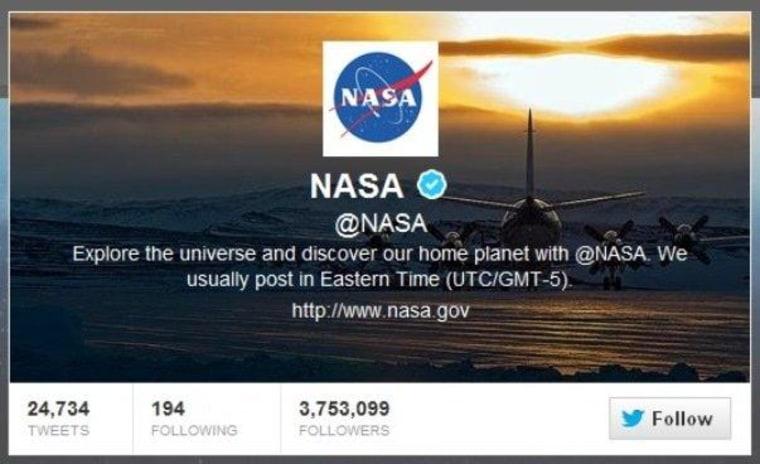 NASA says the tweets will continue despite a