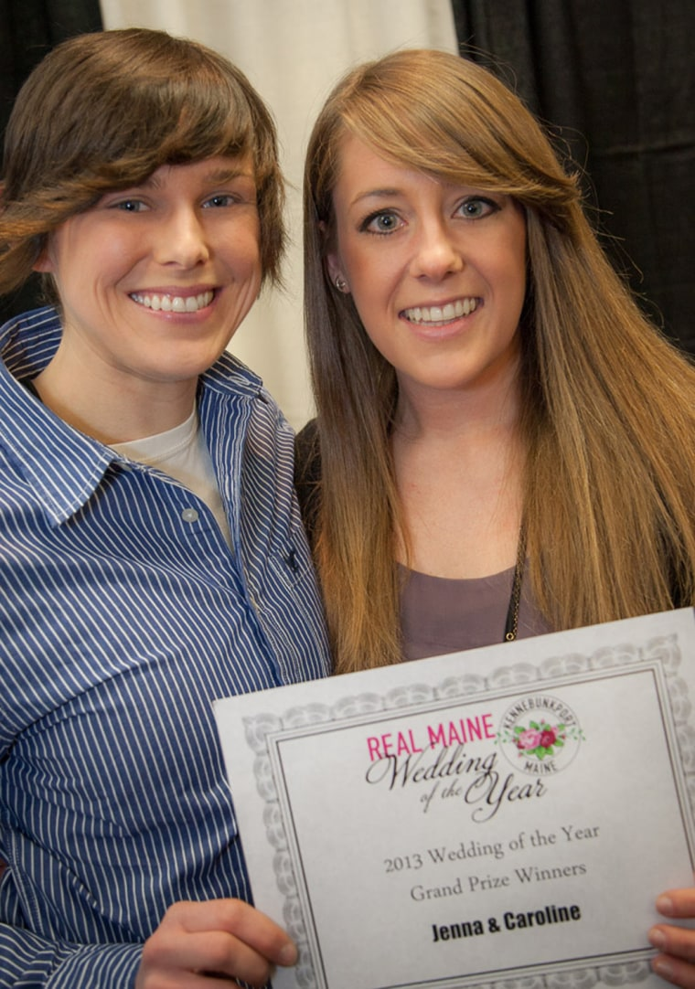 Caroline Currie and Jenna Eagleton were announced as Real Maine Weddings winning couple. They'll receive $100,000 to plan their dream wedding.