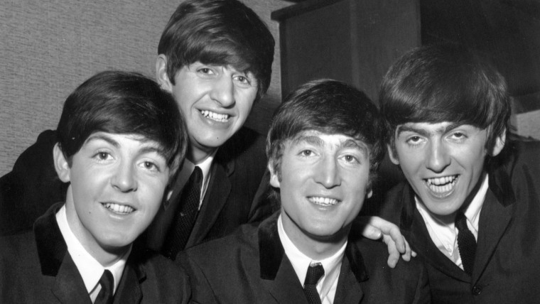 Paul McCartney, Ringo Starr, John Lennon  and George Harrison of The Beatles.