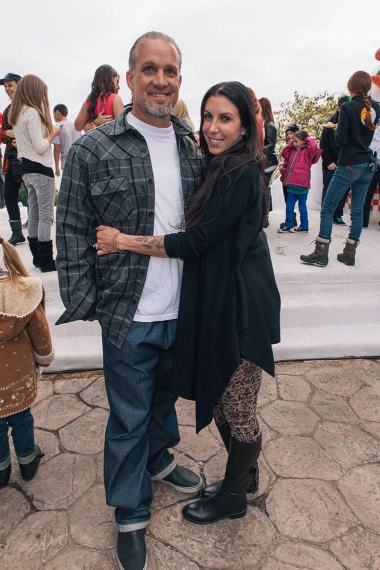 Jesse James and Alexis DeJoria attend John Paul DeJoria's annual winter wonderland holiday party in Malibu on Dec. 22, 2012.