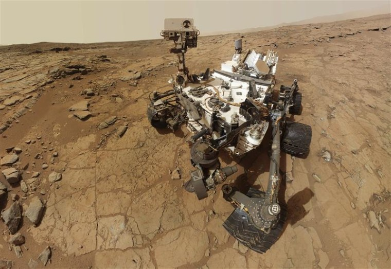 NASA's Mars rover Curiosity, shown on Feb. 3, 2013, resumed its work on Monday.