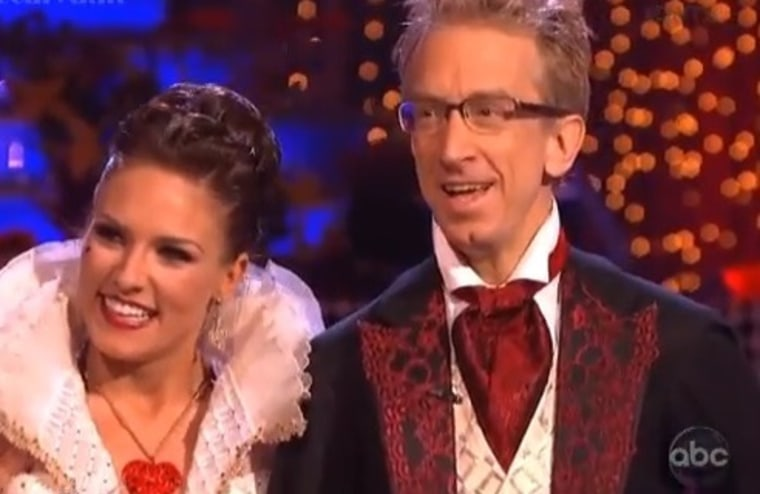 """""""Dancing With the Stars"""" pro Sharna Burgess with celeb partner Andy Dick on Monday night's show."""