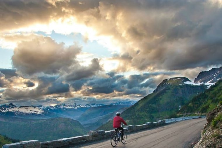 Biking the Going-to-the-Sun Road in Glacier National Park