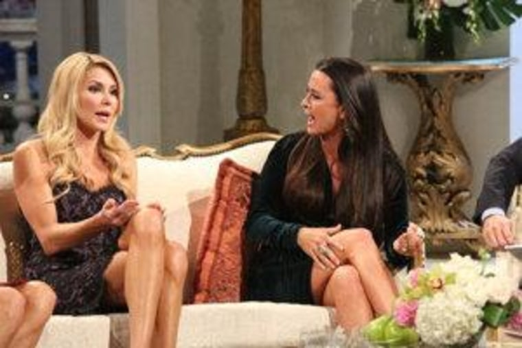 "Brandi Glanville and Kyle Richards have words during the ""Real Housewives of Beverly Hills"" post-finale reunion."