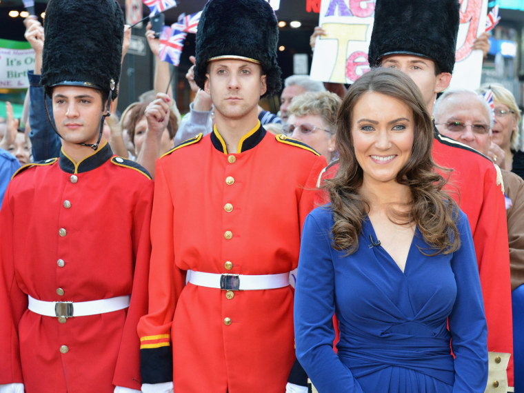 Agan pulled off the Duchess Kate look in her trademark blue Issa dress.