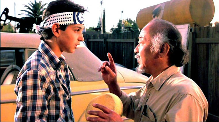 """Ralph Macchio is 51, the same age Pat Morita was back when the two filmed 1984's original """"Karate Kid"""" movie. How in the name of Cobra Kai did this happen?"""