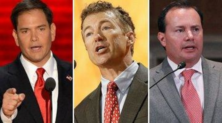 Republican Sens. Marco Rubio, Rand Paul, and Mike Lee