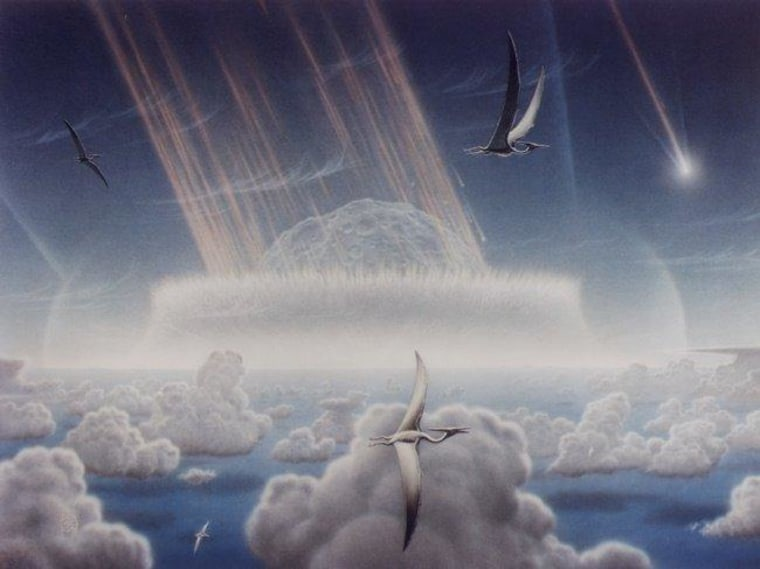 A big body of scientific evidence backs the hypothesis that a major asteroid or comet impact was responsible for the mass extinction of many floral and faunal species, including the large dinosaurs, that marked the end of the Cretaceous period. Now, the theory that a volcanic eruption caused the death is gaining steam.