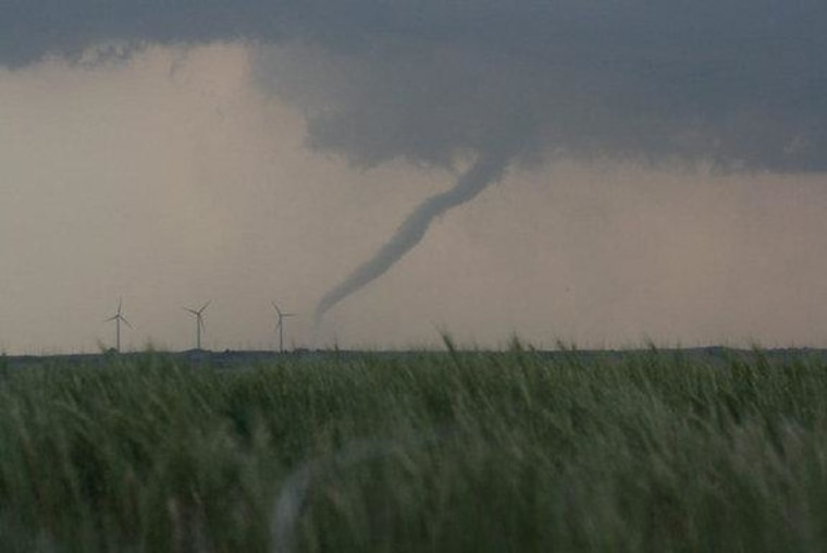 This tornado was one of many spawned during a massive outbreak stretching from eastern Colorado to Oklahoma on May 23-24 in 2011.