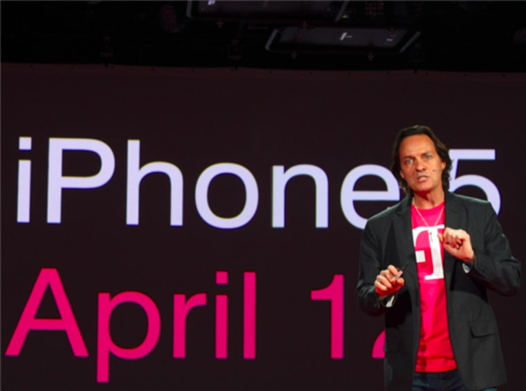 T-Mobile President and CEO John Legere revealed the the company will carry the iPhone 5 during an event in New York City.