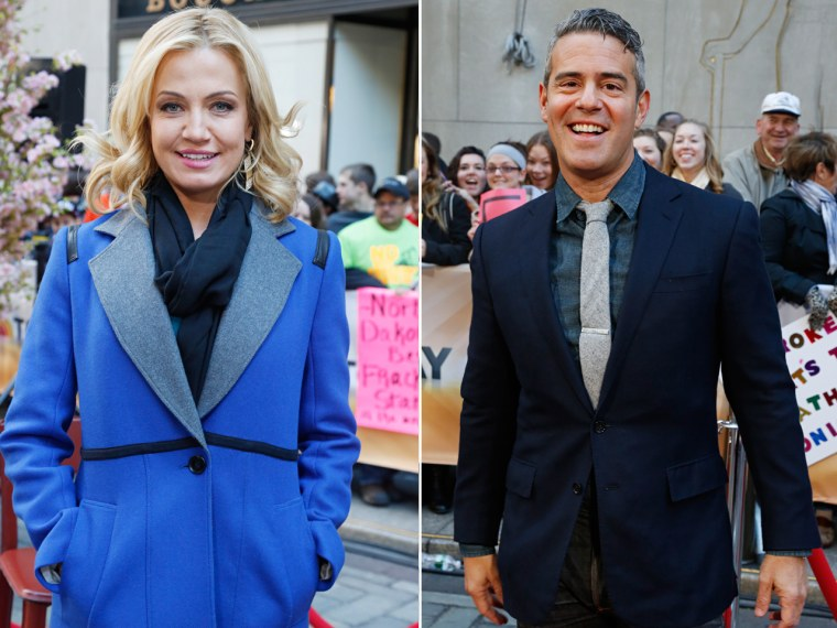 Michelle Beadle and Andy Cohen