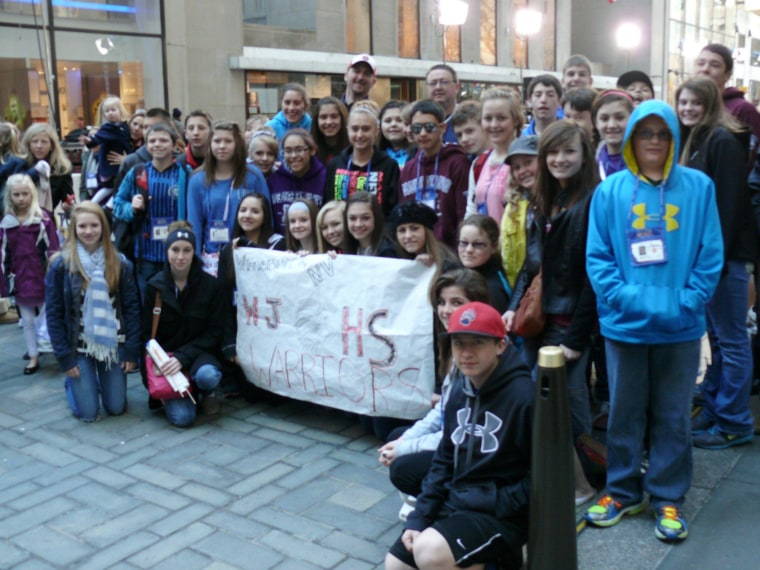 "These school ""warriors"" from Nevada enjoy their first trip to the plaza & New York City!"