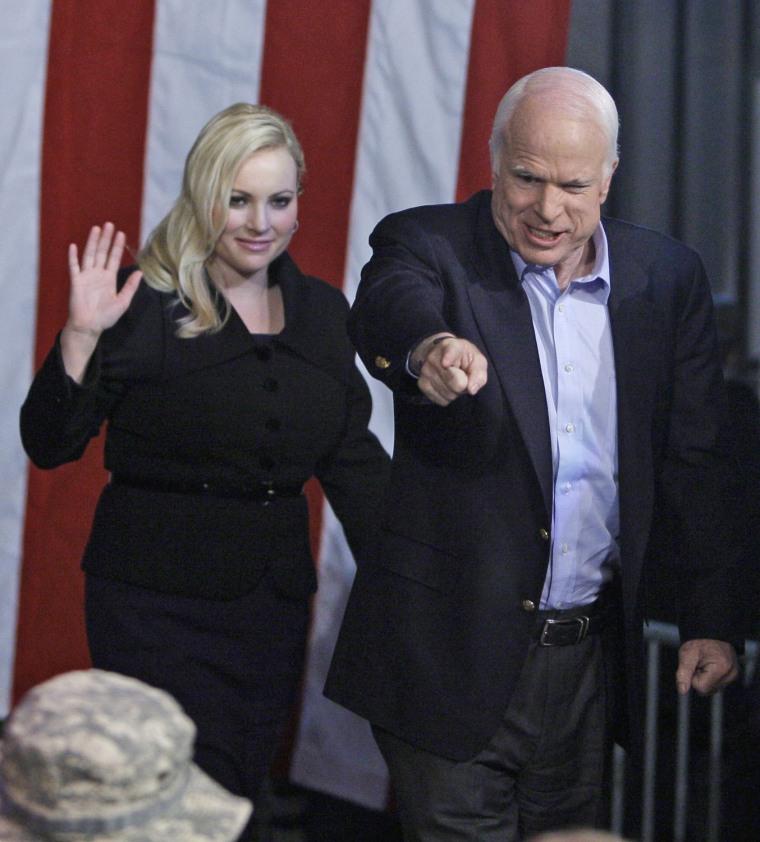 Meghan McCain with father Sen. John McCain in 2008.