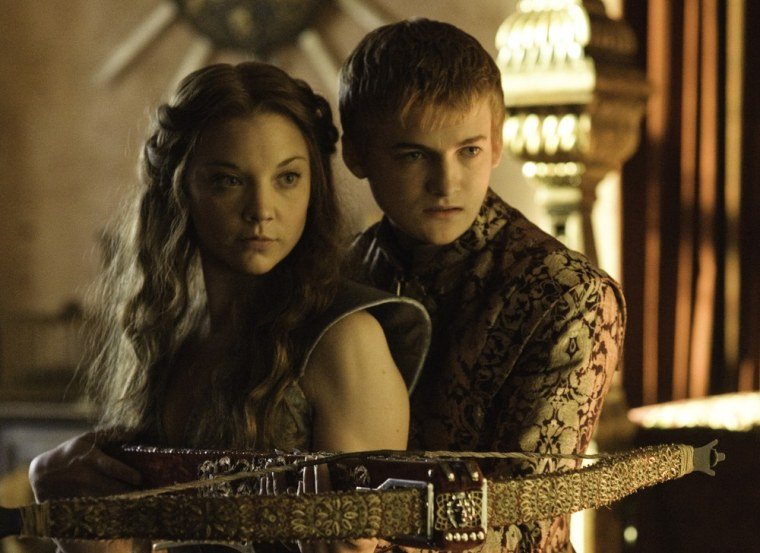 "Margaery (Natalie Dormer) gets to know her king, Joffrey (Jack Gleeson), a bit better on season three of ""Game of Thrones."""