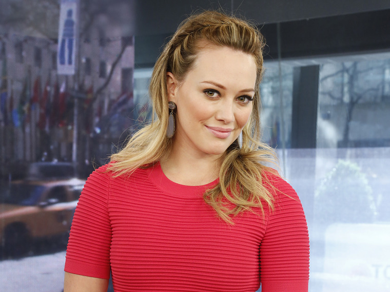 Hilary Duff Wednesday, May 1, 2013, in New York, N.Y. (Rebecca Davis / TODAY)