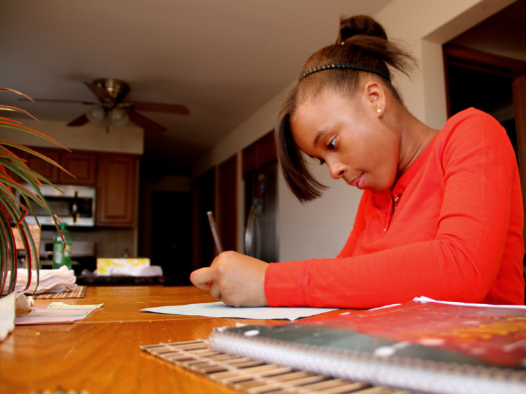 Destini Lofton, now 13, broke her left wrist on an indoor roller coaster ride in Chicago when she was 8.