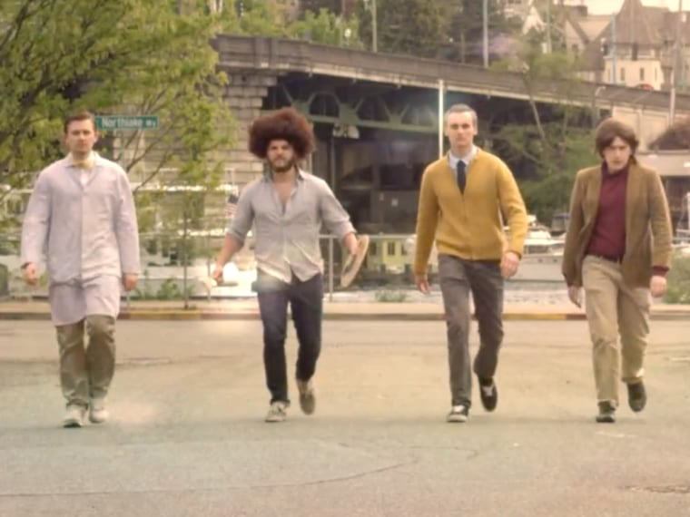 Actors portraying Bill Nye, Bob Ross, Mr. Rogers and Carl Sagan stride forth to save the world from bad TV.