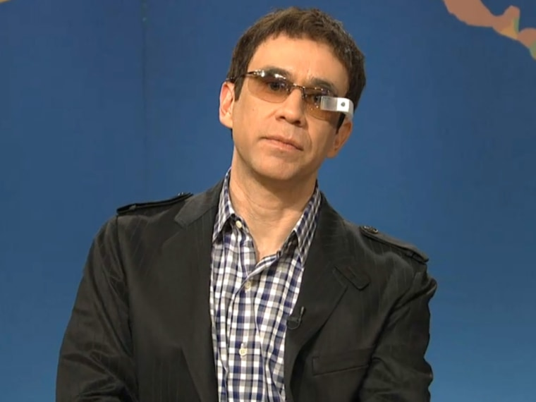 Fred Armisen on SNL with Google Glass