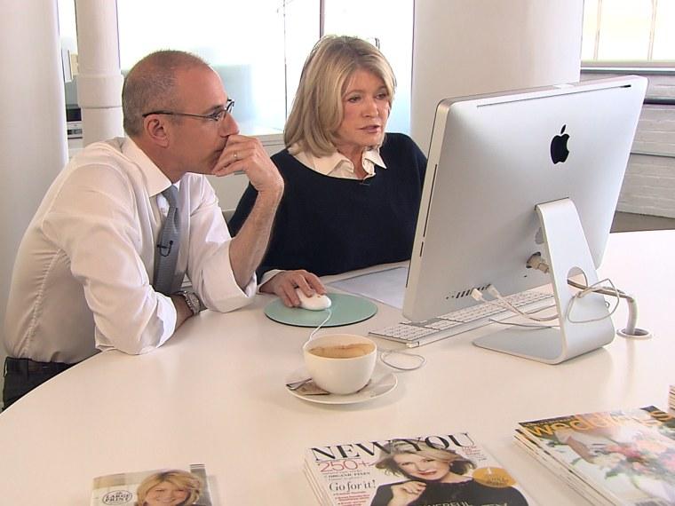 Matt Lauer, Martha Stewart
