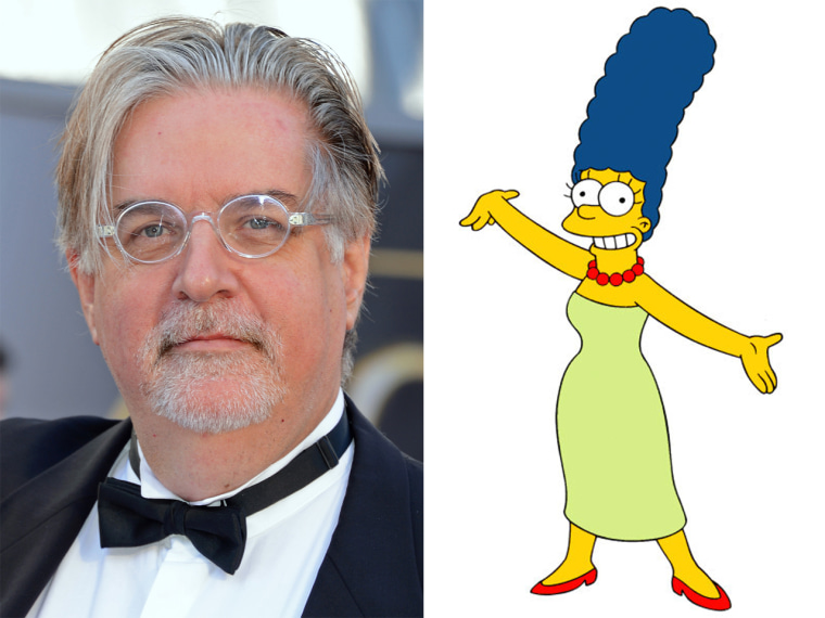 Matt Groening and Marge Simpson.
