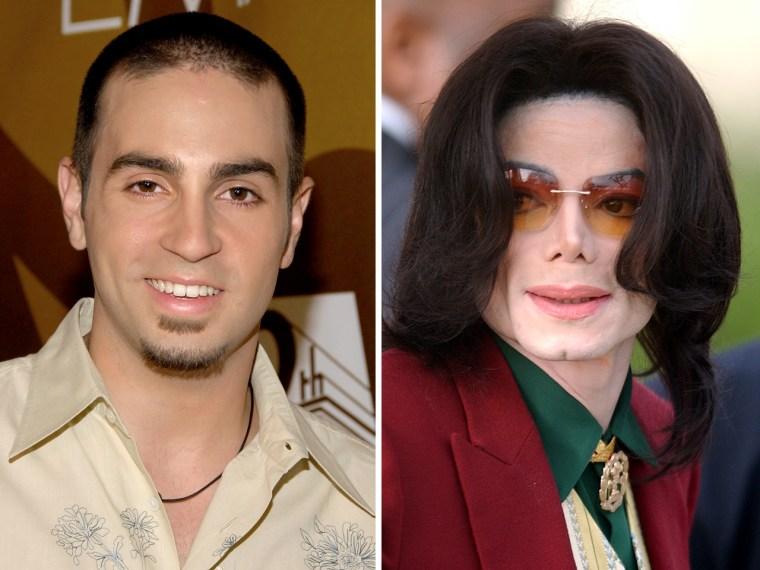 Wade Robson and Michael Jackson.
