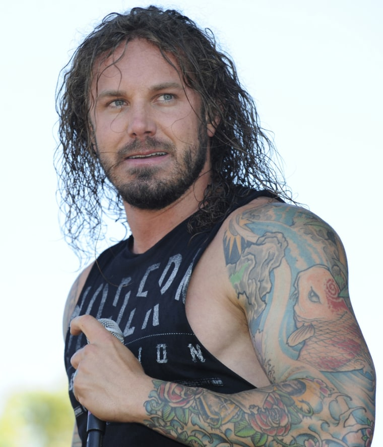 Singer Tim Lambesis, of heavy metal band As I Lay Dying