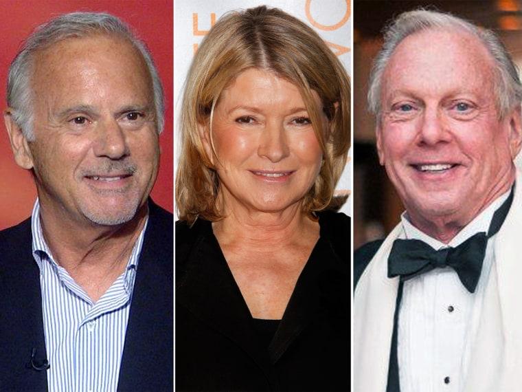Martha Stewart, center, has chosen Stan, left, and Larry, right, as her Match.com dates.