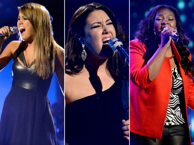 Angie Miller, Kree Harrison, Candice Glover