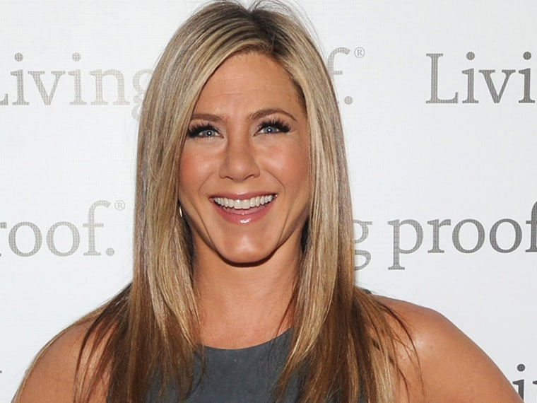 NEW YORK, NY - MAY 08:  Jennifer Aniston launches Living Proof Good Hair Day Web Series at The Royalton Hotel on May 8, 2013 in New York City.  (Photo...