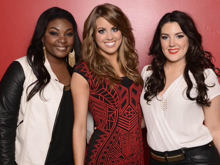 Image: Candice Glover, Angie Miller and Kree Harrison