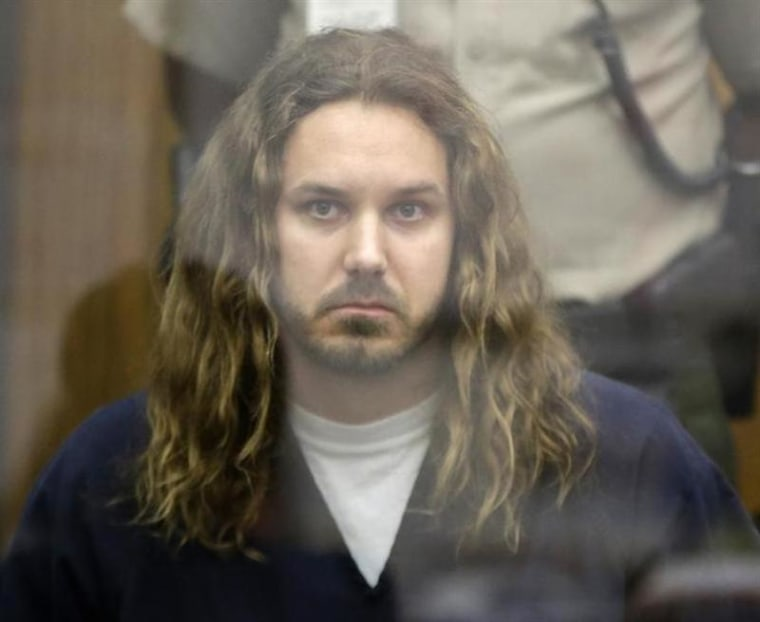 Tim Lambesis during his arraignment in San Diego North County court.