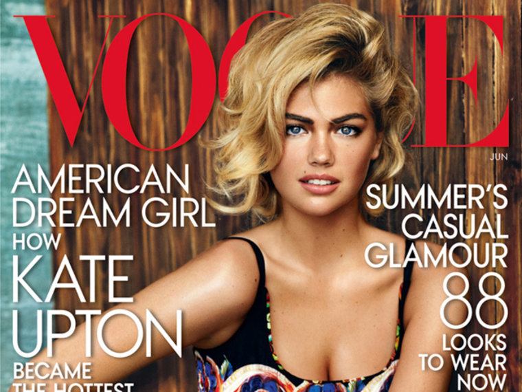 Kate Upton on the cover of VOGUE, June 2013.