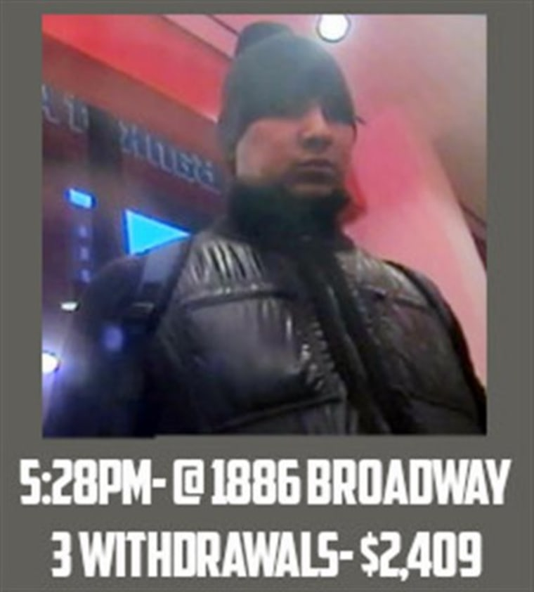"""This Feb. 19, 2013 surveillance image taken from a graphic released by the U.S. Attorney's Office in New York City shows a man identified as \""""defendan..."""