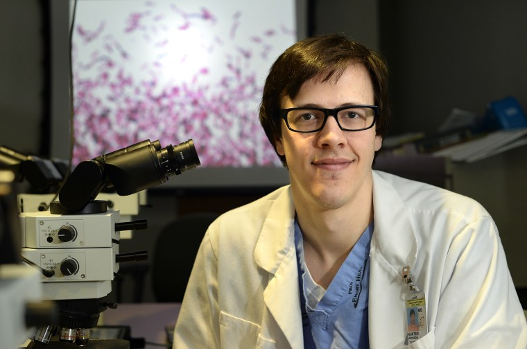 Dr. Hunter Johnson, a pathology resident at the Emory University School of Medicine, has helped at least four patients with C. difficile infections by giving them a dose of his stool. Fecal transplants have been shown to have a 90 percent success rate of curing the potentially deadly infection.