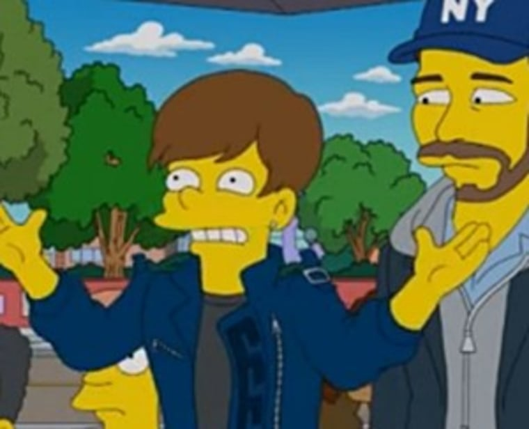 """Justin Bieber on """"The Simpsons."""""""