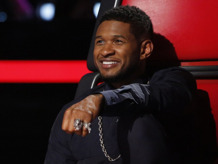 Usher strips as 'The Voice' heats up