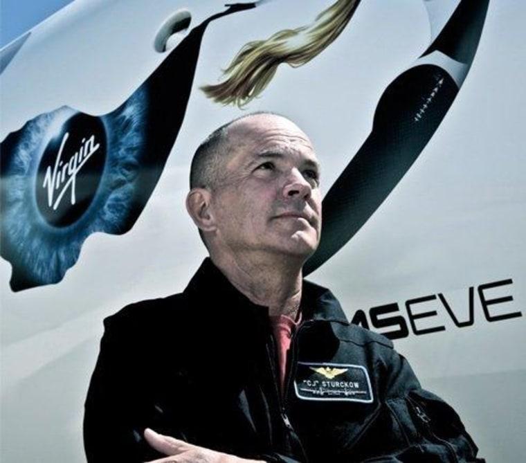 Former NASA space shuttle pilot C.J. Sturckow left the space agency to join Virgin Galactic.