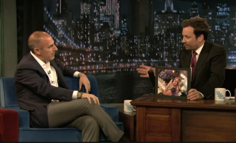 """TODAY host Matt Lauer on \""""Late Night\"""" with Jimmy Fallon on Tuesday."""
